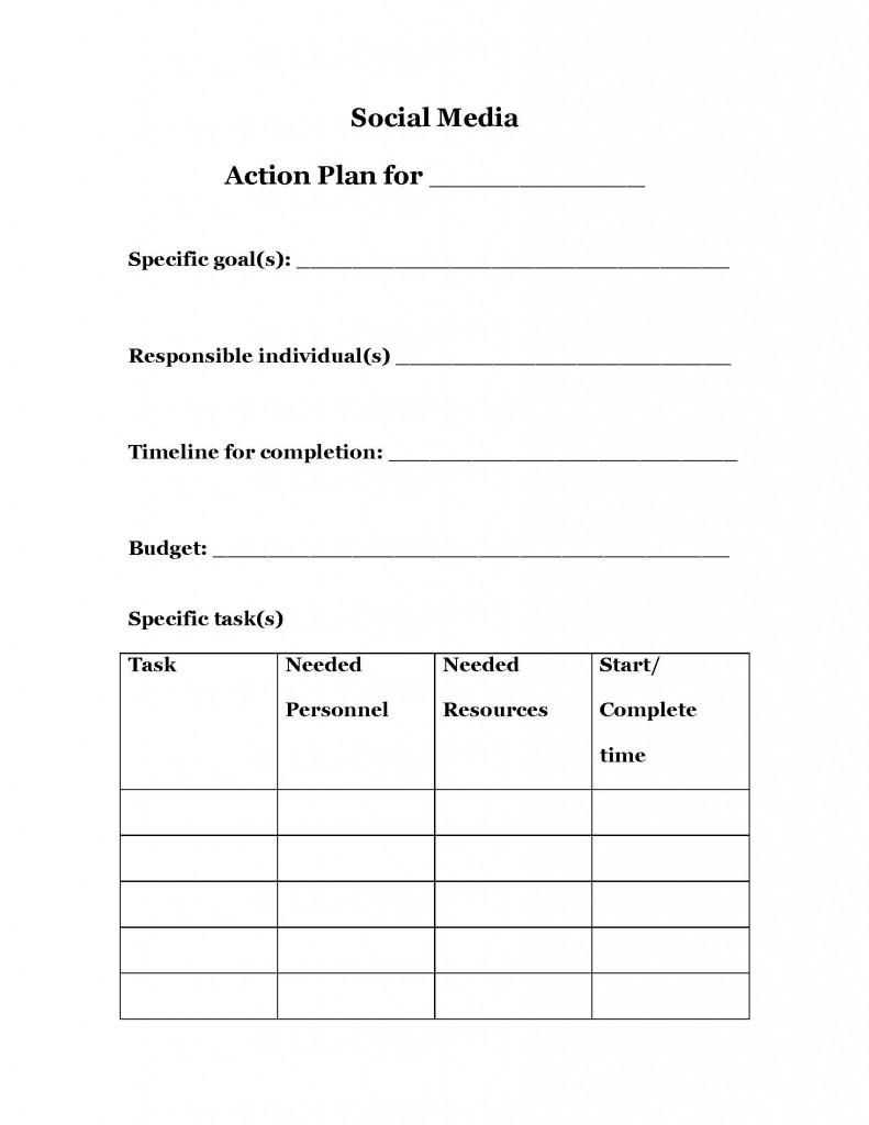 Social Media Tactics Or Social Media Strategy Hausman Marketing - Social media action plan template